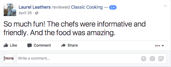 Facebook Review for Overview Page